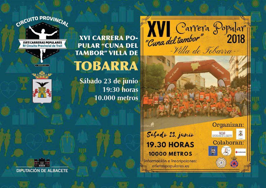 """XVI Carrera Popular """"Cuna del tambor"""" villa de Tobarra"""