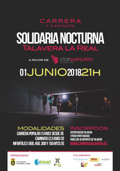 CARRERA SOLIDARIA NOCTURNA DE TALAVERA LA REAL