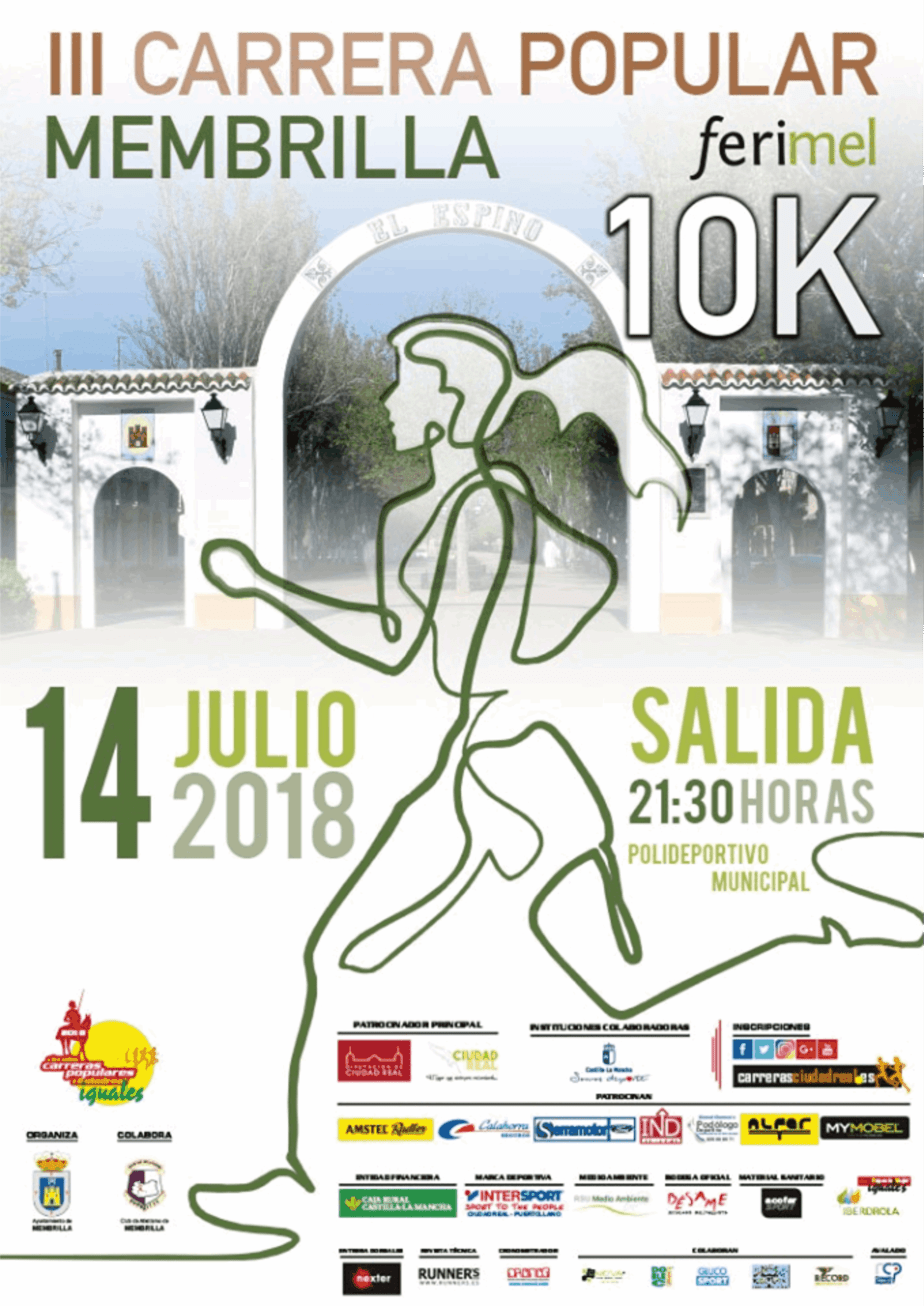 "III CARRERA POPULAR 10K MEMBRILLA ""FERIMEL"""