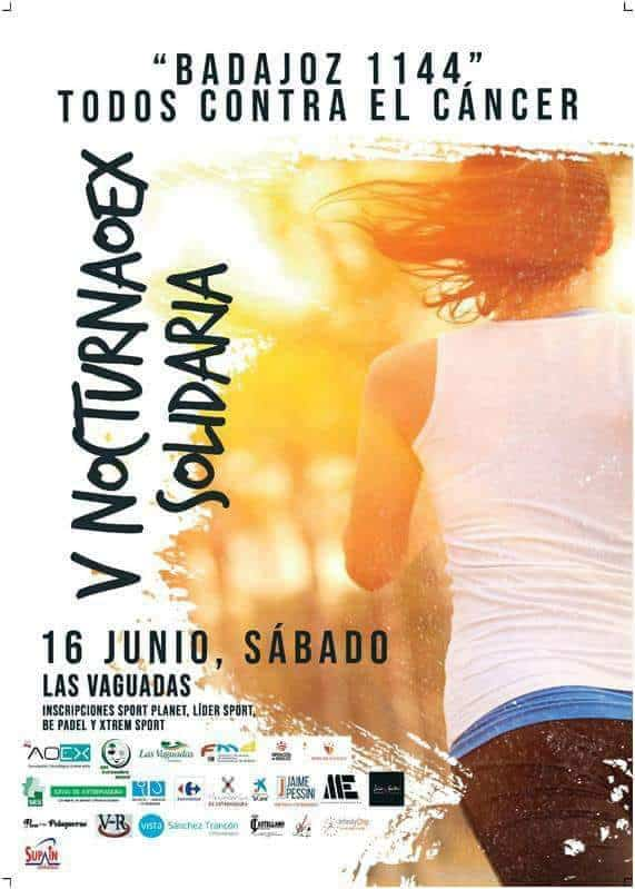 "V Nocturna AOEX ""Badajoz 1144 Todos Contra el Cancer"""